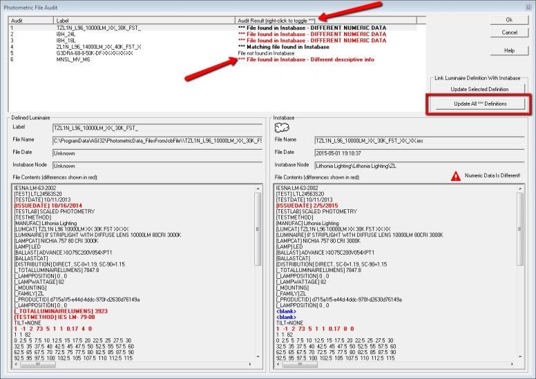 Auditing Luminaire Photometric Files